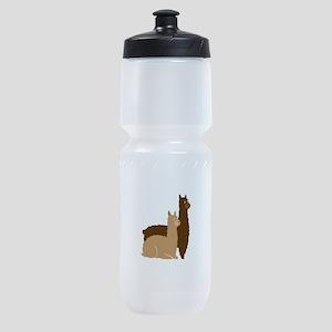 2 alpacas Sports Bottle