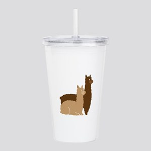 2 alpacas Acrylic Double-wall Tumbler
