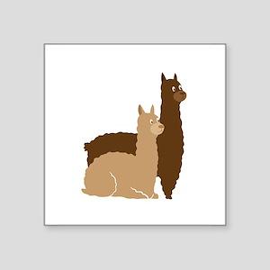 2 alpacas Sticker