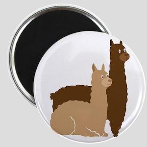 2 alpacas Magnets