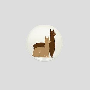 2 alpacas Mini Button