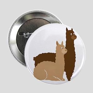 """2 alpacas 2.25"""" Button"""