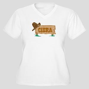 Ciera western Women's Plus Size V-Neck T-Shirt