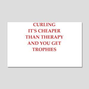 curling joke Wall Decal