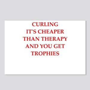 curling joke Postcards (Package of 8)