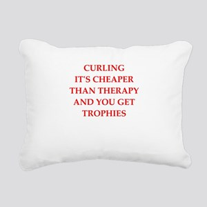 curling joke Rectangular Canvas Pillow