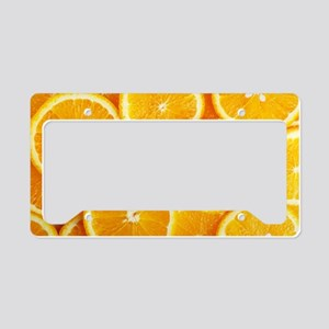 orange slices License Plate Holder