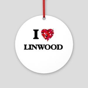 I Love Linwood Ornament (Round)