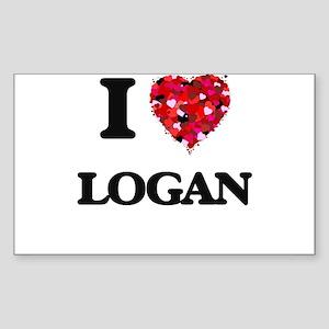 I Love Logan Sticker