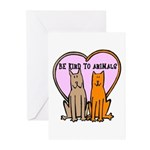 Be Kind To Animals Greeting Cards (Pk of 10)