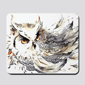 Owl Watercolor Mousepad