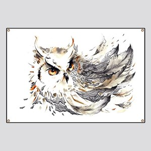 Owl Watercolor Banner