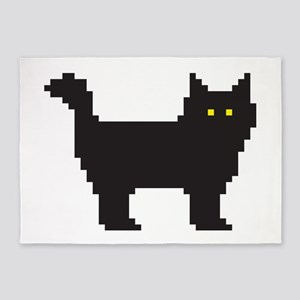 8-Bit Cat 5'x7'Area Rug