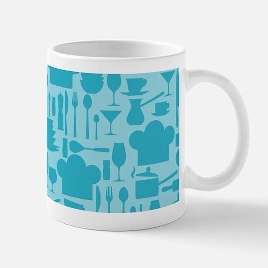 Cozy Retro Kitchen - Aqua Blue Mug