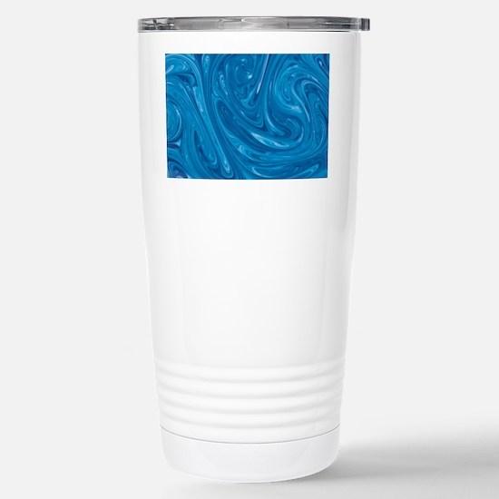 Blue Marble Swirl Stainless Steel Travel Mug