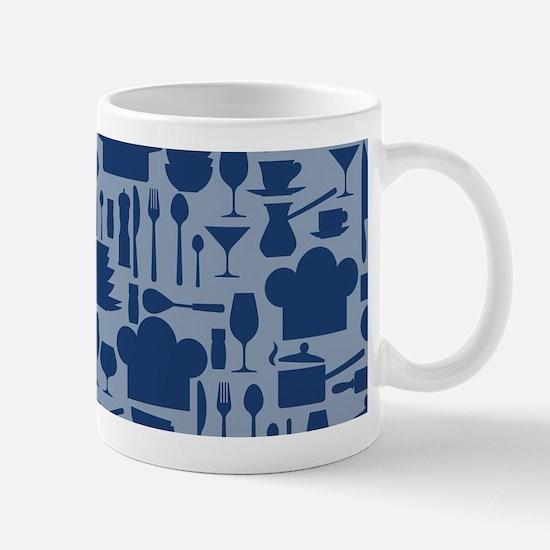 Cozy Retro Kitchen - Dark Blue Mug