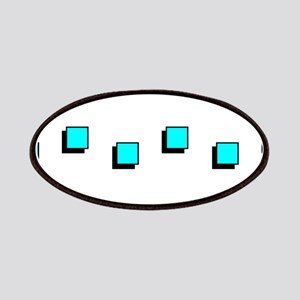 Beveled Turquoise Squares 4Harry Patch