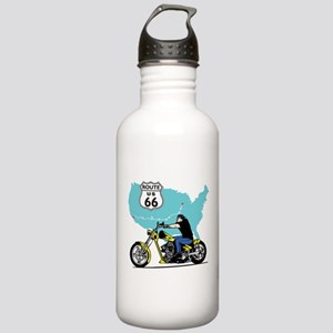 Route 66 Biker Stainless Water Bottle 1.0L