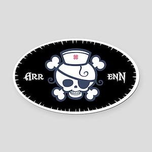 Polly Arr Enn! Oval Car Magnet