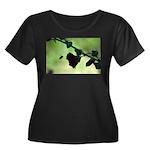 Busy Bee Women's Plus Size Scoop Neck Dark T-Shirt