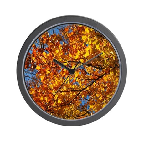 Genial Autumn Winds Wall Clock