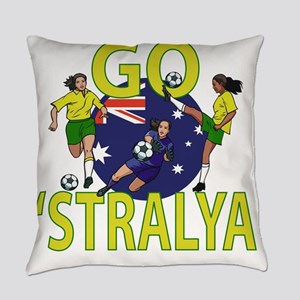 Go Aussies Womens Soccer Everyday Pillow