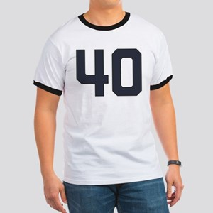 40 40th Birthday 1975 1940 75 Years Old Ringer T