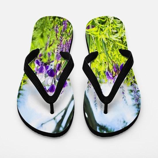 Lavender Fields Flip Flops