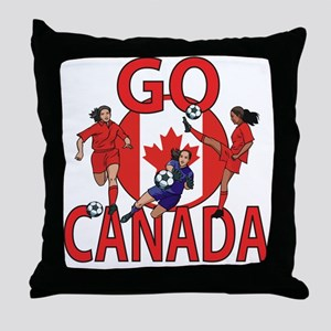 Go Canada Womens soccer 2015 Throw Pillow