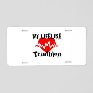 My Life Line Triathlon Aluminum License Plate