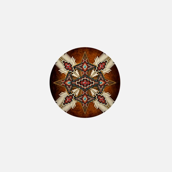 Cute Native american Mini Button