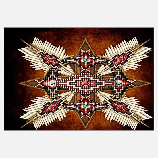 Cute Native american indian Wall Art