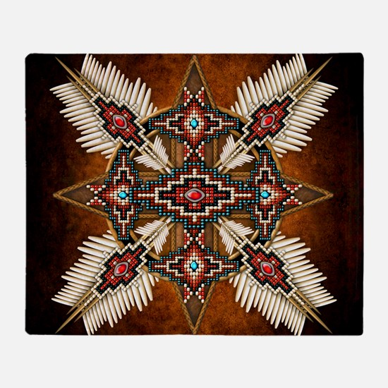 Cute American indian Throw Blanket