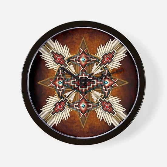 Unique Native american Wall Clock