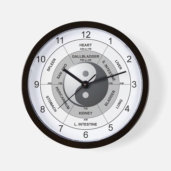 Unique Acupunctures Wall Clock