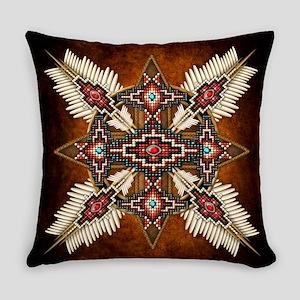 Native American Style Mandala 28 Everyday Pillow