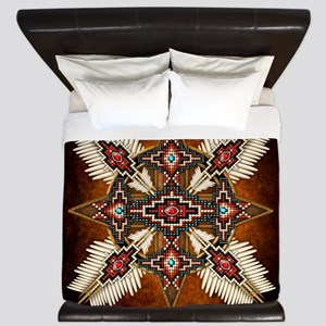 Native American Style Mandala 28 King Duvet
