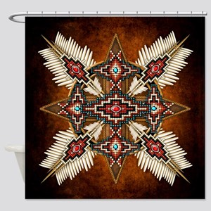 Native American Style Mandala 28 Shower Curtain