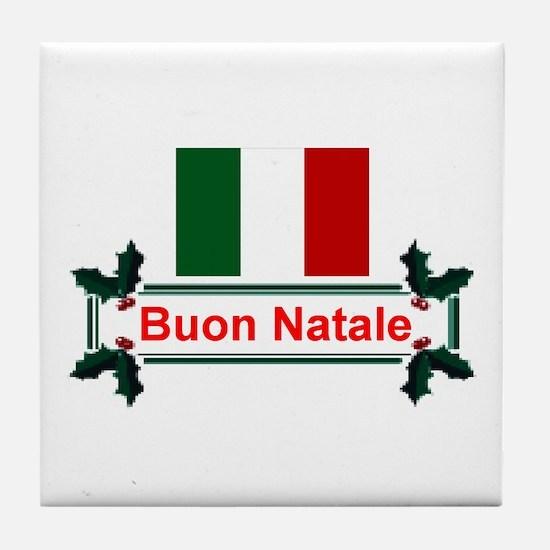 Italian Buon Natale Tile Coaster