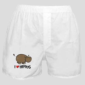 I Love Hippo Boxer Shorts