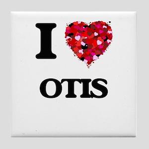 I Love Otis Tile Coaster