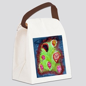 Faces in a crowd Canvas Lunch Bag