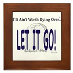 Let It Go Framed Tile