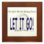 Let It Go Framed Tile