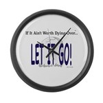 Let It Go Large Wall Clock