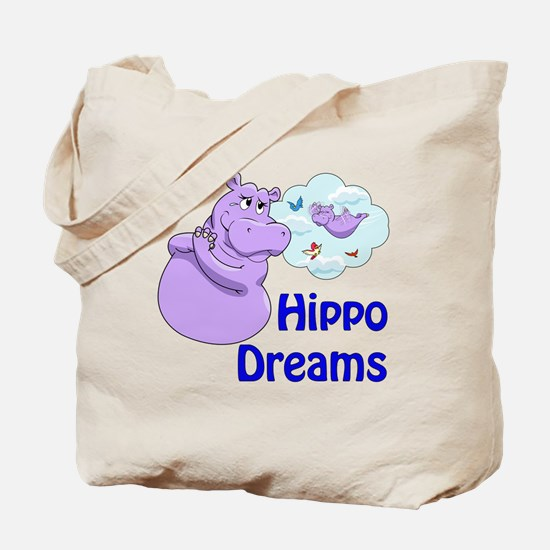 Cute Purple hippos Tote Bag