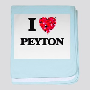 I Love Peyton baby blanket