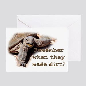 Remember Dirt Tortoise Greeting Card