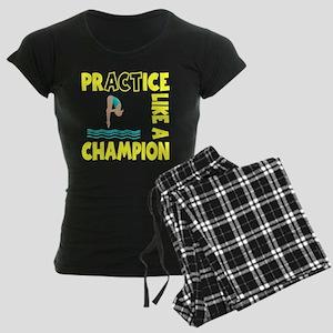 PRACTICE DIVING Women's Dark Pajamas