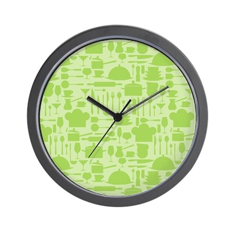 green kitchen clocks retro kitchen light green wall clock by nature tees 1397
